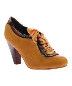Another great find on #zulily! New Yellow Backlash Leather Pump #zulilyfinds