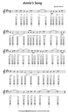 Tablature Download ~ May, 2015 | HIGH SPIRITS FLUTES #HighSpirits #NAF #FluteTablature