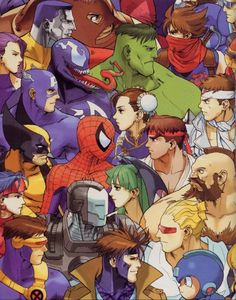 Marvel VS Capcom...my brother loved this game! ✤ || CHARACTER DESIGN REFERENCES…