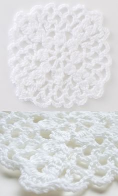 Lacy crochet square - free Japanese diagram pattern