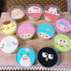 Best Ideas For Cake Cute Kawaii Cupcake Cute Desserts, Dessert Recipes, Dessert Kawaii, Cute Food, Yummy Food, Cute Baking, Steamed Cake, Jelly Cake, Tsumtsum