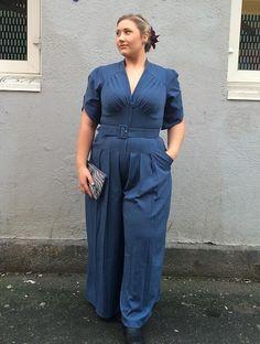 Doreen Pant Suit, Blå