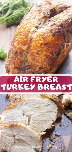 This Air Fryer Roasted Turkey Breast is juicy and moist and so easy to make. Use bone-in or boneless turkey breast to make this beautiful golden roasted turkey in less than an hour. Best Baked Potato, Baked Potato Recipes, Chicken Parmesan Recipes, Sausage Recipes, Low Carb Diets, Best Whole Chicken Recipe, Recipe Chicken, Baked Turkey Wings, Roast Turkey Breast
