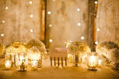 a magical, twinkling tablescape  Photography by jennanddavestark-portfolio.com, Wedding Planning   Coordination by melissaandre.com, Floral Design by http://jackieo.ca