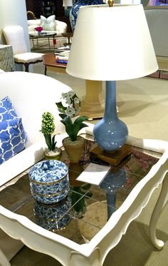 The Dallas Side Table by Charlotte Moss at the Century Furniture Showroom- Boston Design Center