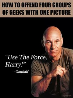Actually fice, because you can't say if it's Professor Charles Xavier or if it's Captain Jean-Luc Picard