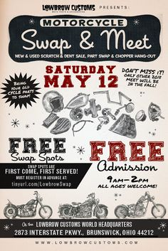 Check out the Lowbrow Swap & Meet on May 12th!