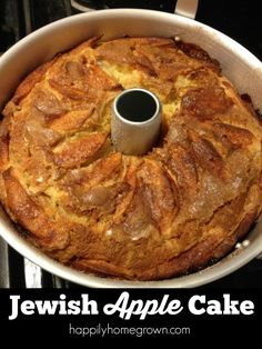 Jewish Apple Cake is one of my favorite comfort foods. Sweet-tart apples, lots of cinnamon sugar, and a deliciously moist cake make every fork full delicious.
