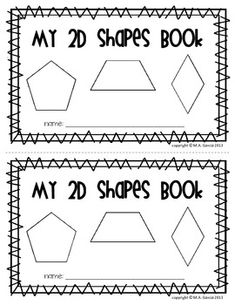 FREEBIE 2D plane shapes book. Students can complete while you make a class chart to keep them engaged.