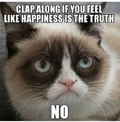 Clap along if you feel happiness is the truth... NO