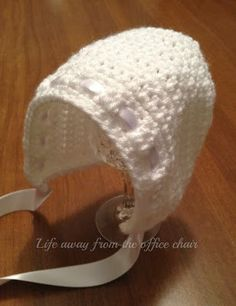 Crochet Baby Bonnet *How to* - bonnet with open back - cute!