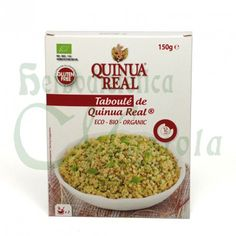 Quinua Real, Taboulé Ecológica, una mezcla de quinoa y hortalizas de agricultura ecológica ya preparada para hervir en 12 minutos y lista. Sin Gluten.