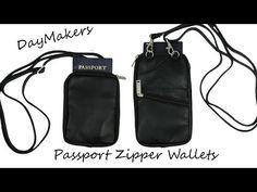 Grande RFID Passport Zipper Wallet - BeSafeBags by DayMakers of Santa Barbara China Vacation, Santa Barbara, Sling Backpack, Passport, Backpacks, Zipper, Wallet, Bags, Handbags