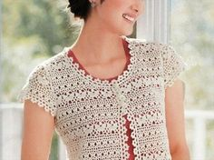 If you are good at crocheting then in no way you can miss the chance to grab these 20 simple crochet shrug designs. The designs and patterns of these crochet Débardeurs Au Crochet, Crochet Bolero Pattern, Crochet Coat, Crochet Jacket, Easy Crochet, Crochet Clothes, Crochet Patterns, Crochet Fabric, Crochet Shrugs