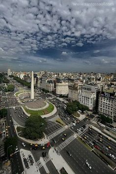 "Arial shot of ""Avenida 9 de Julio"" in Buenos Aires. This Avenue is the widest Avenue in the world. The Obelisk in the middle looks just like the Washington Monument in Washington D. Buenos Aires is a fascinating city. The Places Youll Go, Places To See, Argentine Buenos Aires, Travel Around The World, Around The Worlds, Argentina South America, Argentina Travel, Central America, Wonders Of The World"