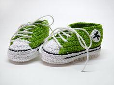 patucos #ganchillo converse // #Crochet converse