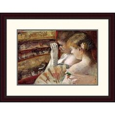 Global Gallery 'In the Box' by Mary Cassatt Framed Painting Print Size: