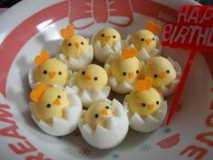 Cute chick egg idea