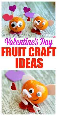 Grab Halos Tangerines and make a Love Bug and Cupid craft for Valentine's Day. These fruit valentine treats are simple and easy to make. Crafts For Girls, Easy Crafts For Kids, Easy Diy Crafts, Toddler Crafts, Kinder Valentines, Valentines Day Party, Valentine Day Crafts, Valentine Ideas, Fruit Decoration For Party