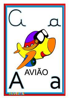 Alfabeto ilustrado colorido cartazes de parede - SÓ ESCOLA                                                                                                                                                                                 Mais