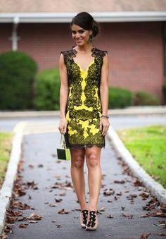 Camila Coelho - Vestido amarelo de festa Yellow party dress