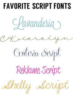 Favorite Free Script Fonts