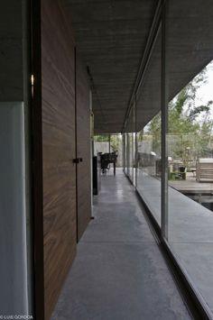 Love corridors with glass