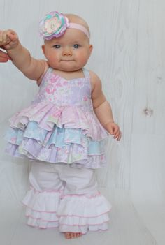 Baby Kara's Triple Ruffle Pants and Capris PDF Pattern - Create Kids Couture