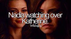 Nadia watching over Katherine