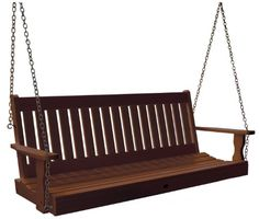(CLICK IMAGE TWICE FOR PRICING AND INFO :) #porch #swing #swings #furniture #deck #porchswing #porchswings #outdoor #outdoorfurniture #patio - SEE MORE Patio Swings at http://zpatiofurniture.com/page/26/?cat=1318 - Highwood Lehigh Porch Swing, 5-Feet, Weathered Acorn « zPatioFurniture.com