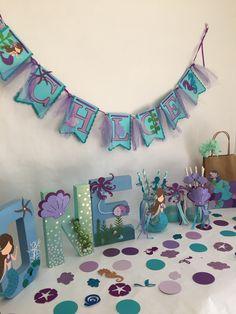 Mermaid letters mermaid centerpiece mermaid birthday