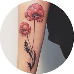 Poppy tattoo by Dwam #poppy #Dwam