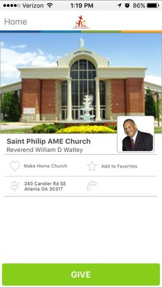 Saint Philip AME Church in Atlanta, Georgia #GivelifyChurches