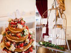 wedding cake - naked cake - rustic cake - birds cake top