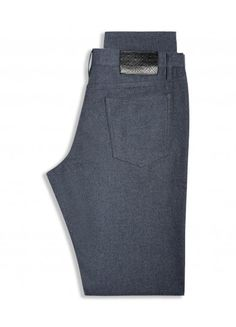 BLUE POCKET COTTON CHINO Casual Trousers