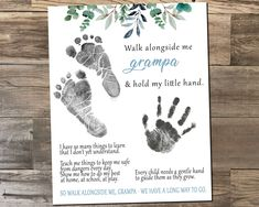 Diy Father's Day Crafts, Father's Day Diy, Fathers Day Crafts, Baby Footprint Crafts, Baby Feet Crafts, Newborn Crafts, Baby Crafts To Make, Baby Hand And Foot Prints, Daddy Poems