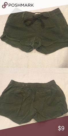 Army green shorts All clothing is either brand new or very lightly worn (once or twice).    I am open to offers on everything- feel free to make an offer through offer button!   All items are from a smoke free home and have been treated with loving care.    Bundles are ALWAYS discounted! Ask me for a great bundle deal if you aren't happy with the bundle feature price! SO Shorts