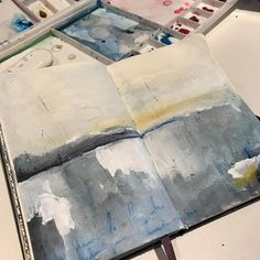 Just love #exploring different #techniques #exploreart #exploretocreate #artexplorer #cathymevik #artista #artists #contemporaryart #abstractart #abstractpainting #abstractlandscape #landscape #inspiration #inspired #dailypainting #artdaily #artistic #soothing #soft #relaxing #calming #markmaking #imperfections  #artmaker #imagination #imaginationarts #dowhatyoulove #dowhatmakesyouhappy #creative