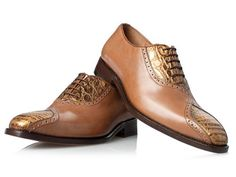 Krokodilleder Schuhe in Braun - No. 442 Kroko Schuhe: Amazon.de: Schuhe & Handtaschen
