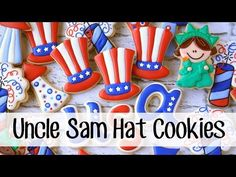 LilaLoa: How to Make Decorated Uncle Sam Hat Sugar Cookies