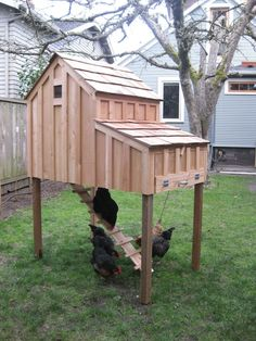 Saltbox Chicken Coops by Stuga on Etsy. $775.00 USD, via Etsy.