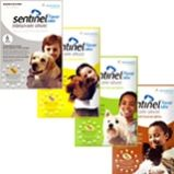 Sentinel (Milbemycin) oxime eliminates the tissue stage of heartworm larvae and the adult stage of hookworm, roundworm, and whipworm infestations. Lufenuron, the other active ingredient, is an insect development inhibitor that breaks the flea life cycle by inhibiting egg development. http://www.allvetmed.com/Sentinel-p/SEN6.htm