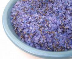 How to make lavender bath salts   Homemade Bath Salts and Scrubs