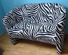 Bilderansicht: Sofa, Couch, Bank im Zebra Look Dekostück