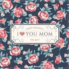 Fundo do dia de mãe elegante com rosas bonitos Vetor grátis