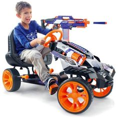 Nerf go-cart! I so want this! Imagine this thing with a motor!