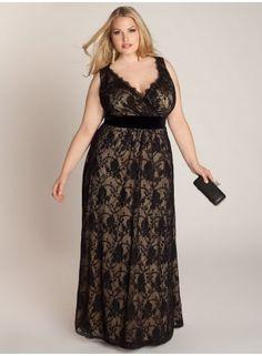 Giselle Lace Plus Size Gown - Evening Dresses by IGIGI