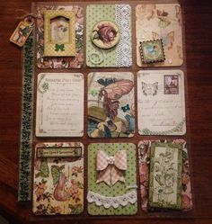 "Fairy themed Pocket Letter I made using Graphic 45 ""Once Upon A Springtime"" line."