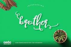 Brother Typography Script from FontBundles.net