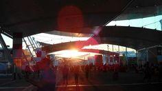 Sole in tramonto sul decumano